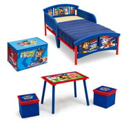 Nick Jr. PAW Patrol 4-Piece Toddler Bed Bedroom Set with BONUS Fabric Toy Box by Delta Children