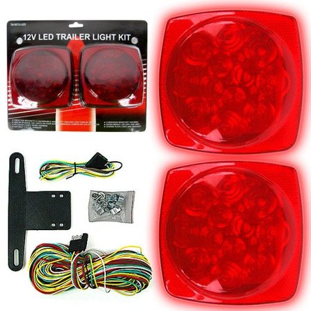 wiring up led tail lights stalwart 75-1872 12 volt led trailer tail light kit ...