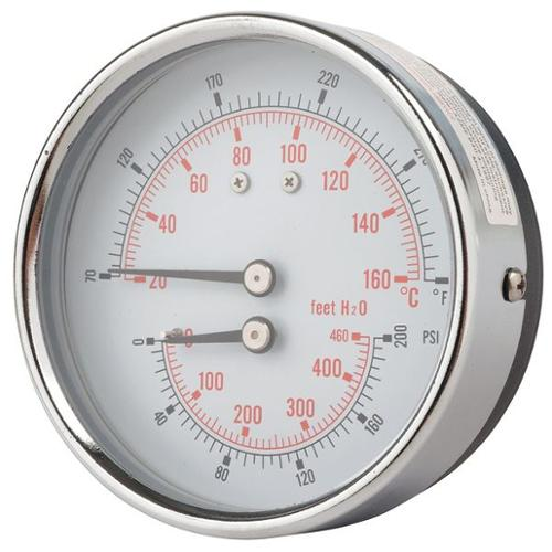 PIC GAUGES TRI-HD-302R-G Tridicator, Heavy Duty, 0 to 200 psi
