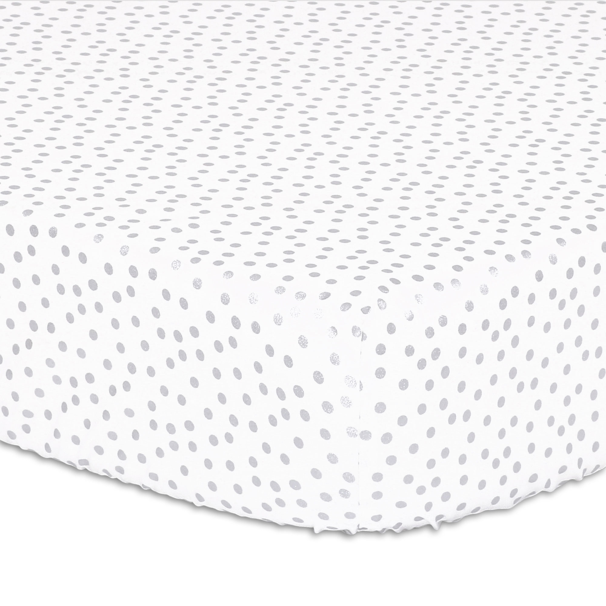 Metallic Silver Dot Fitted Crib Sheet by The Peanut Shell
