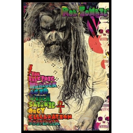 Rob Zombie Electric Warlock Poster Poster Print - Rob Zombie Halloween Poster
