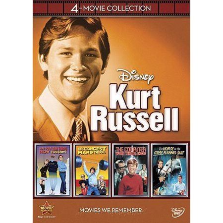 Disney  Kurt Russell 4 Movie Collection   The Computer Wore Tennis Shoes   The Strongest Man In The World   Now You See Him Now You Dont   The Horse In The Gray Flannel Suit