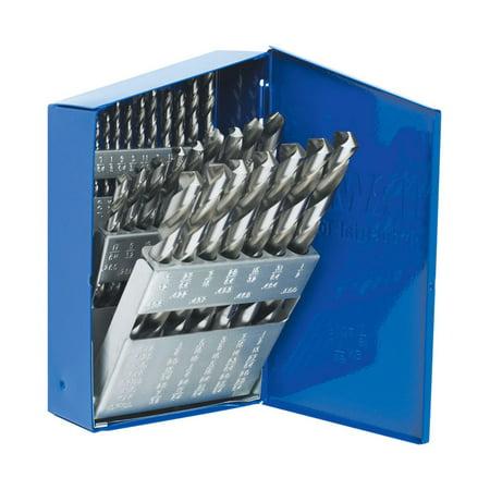 Irwin 1/16-1/2 in. Dia. x Multiple L High Speed Steel Drill Bit Set Straight Shank 29 pc.