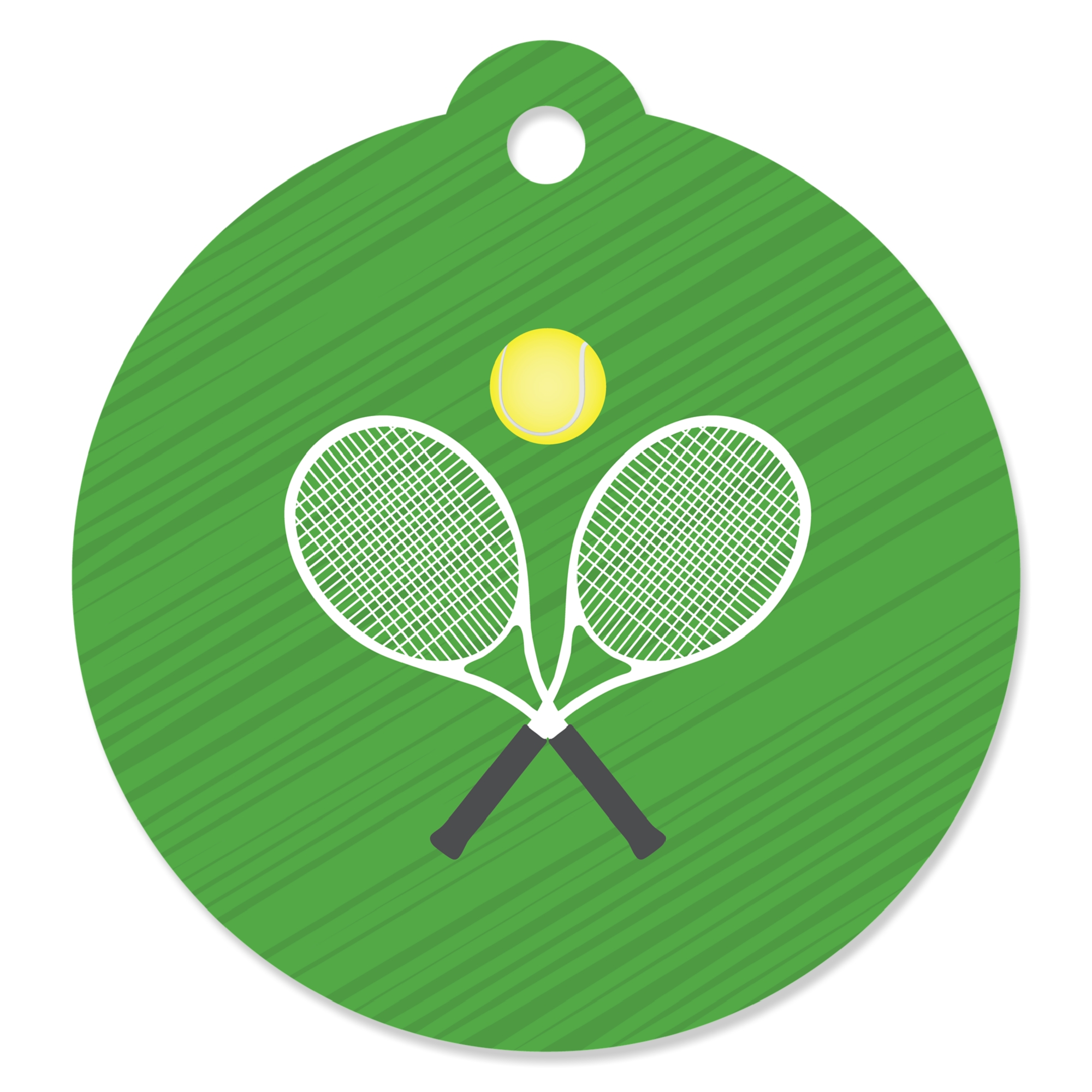 You Got Served - Tennis - Baby Shower or Tennis Ball Birthday Party Favor Gift Tags (Set of 20)