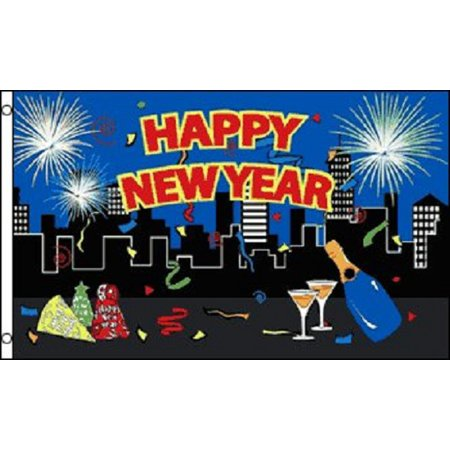 happy new year flag party banner new years eve event holiday pennant 3x5 outdoor