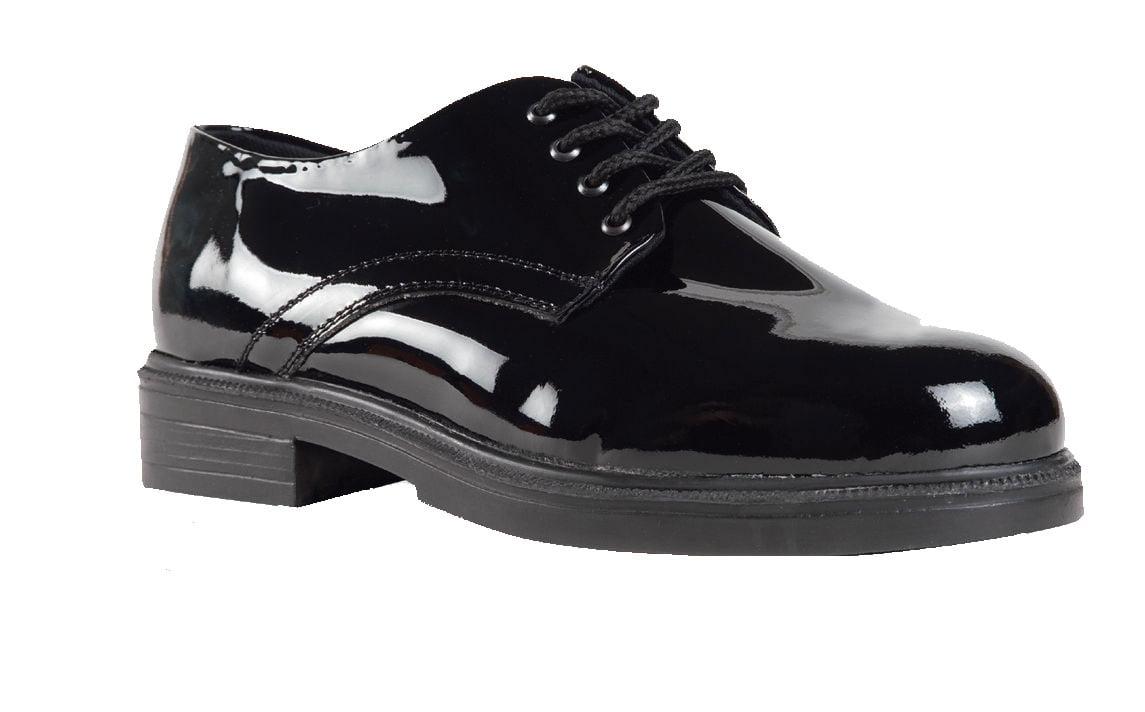 Sixka Black Men's Oxford Military Leather Black Sixka High Gloss Shoes 0e482e