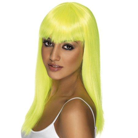Lady Gaga Yellow Wig (Long Neon Yellow Glamourama Adult Costume)