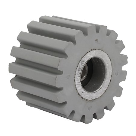 Unique Bargains 53mmx8mmx40mm Bearing Steel Rubber Straight Line Pinch Roller Pulley Gray