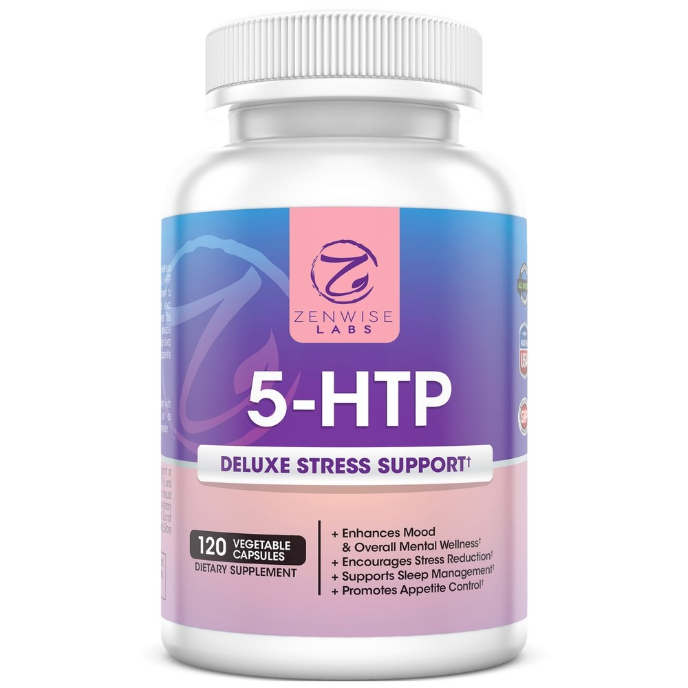 Zenwise Health 5-HTP Deluxe Stress Support Vegetable Capsules, 120 Ct