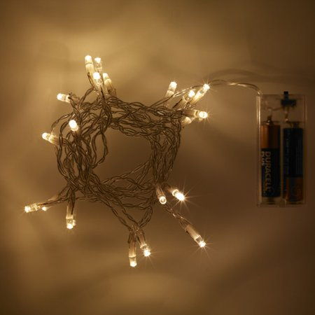Perfect Holiday 10 LED 3ft String Light Battery Operated - Warm - All Holidays In Order