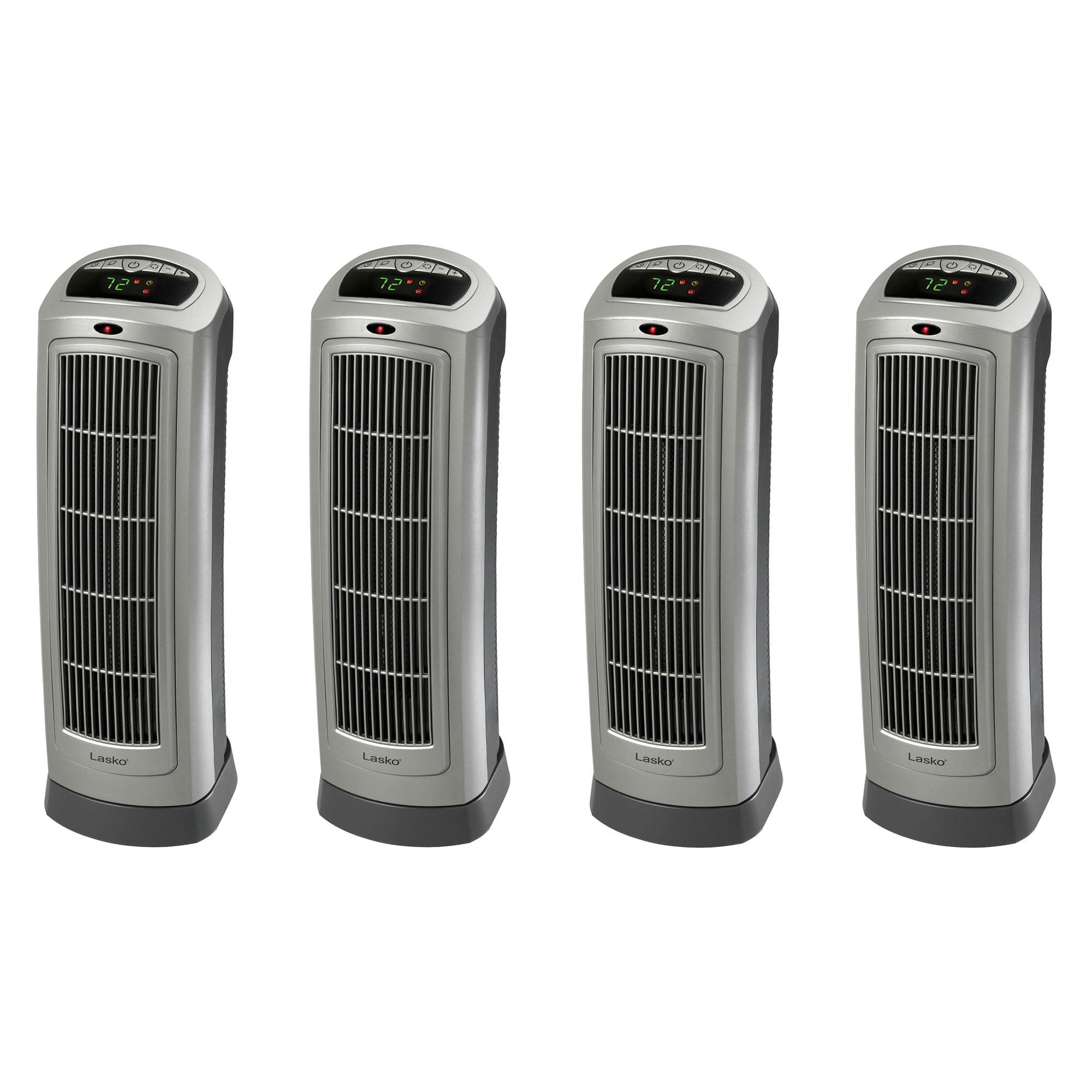 Lasko 1500W Oscillating Ceramic Tower Heater with Digital...