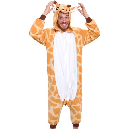 SILVER LILLY Unisex Adult Plush Animal Cosplay Costume Pajamas (Giraffe) (Adult Dog Onesie)