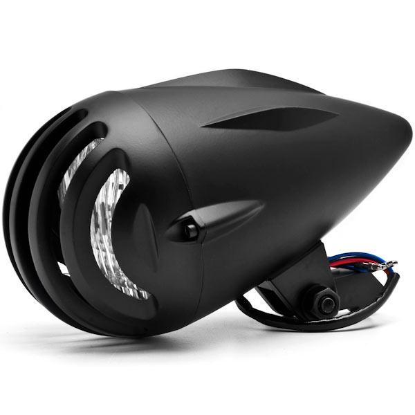 "Krator 4 3/4"" Black Round Motorcycle Classic Headlight For Kawasaki VN Vulcan 700 750"