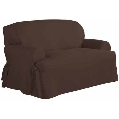 Serta Relaxed Fit Duck Furniture Slipcover, Loveseat 1-Piece T Cushion by Generic