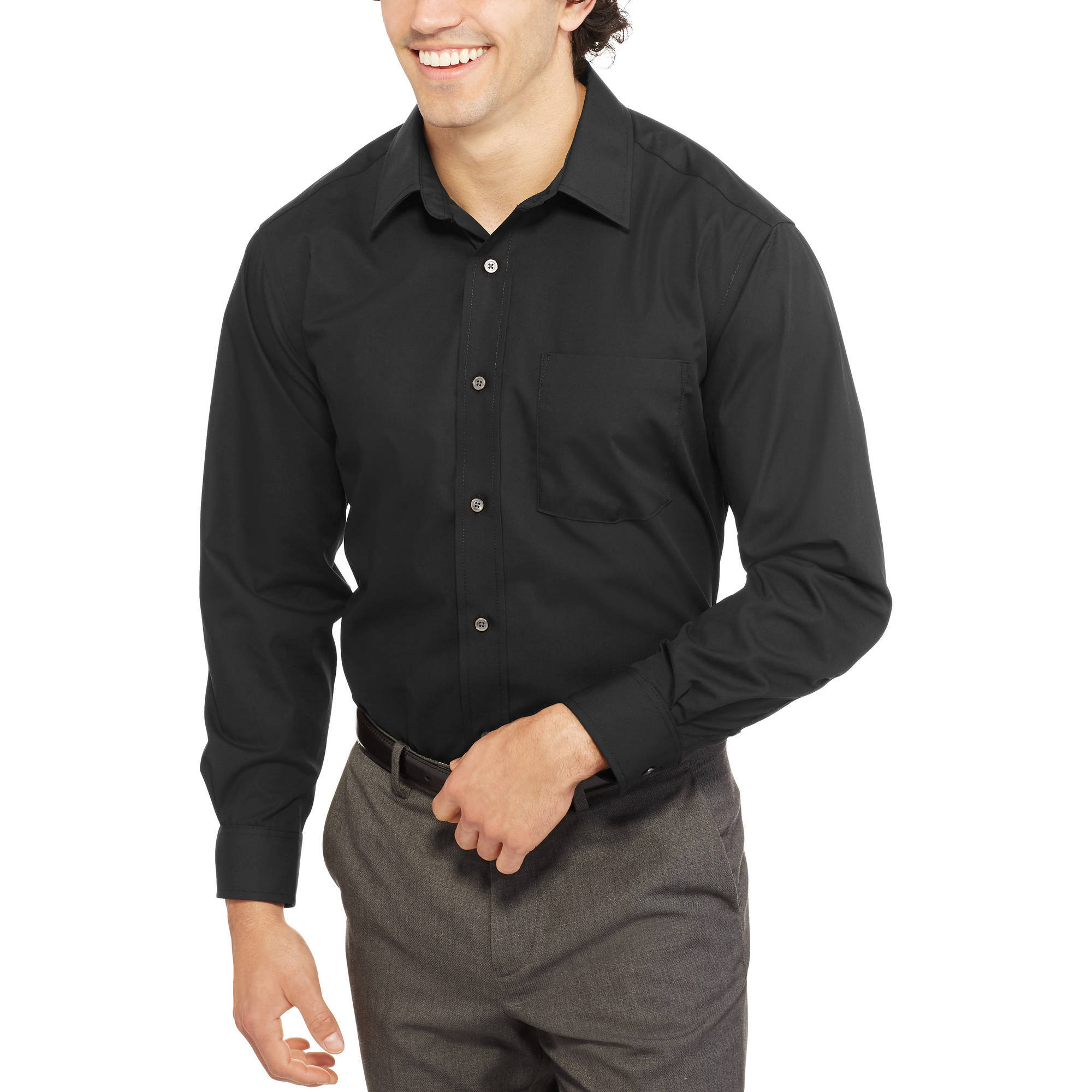 George Men's Long Sleeve Poplin Dress Shirt