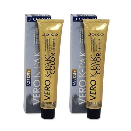 JOICO VERO K-PAK Hair Color 8NG Plus Age Defy Medium Natural Blonde (2 Pack)