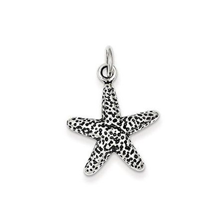 .925 Sterling Silver Antiqued Starfish Charm Pendant MSRP $37