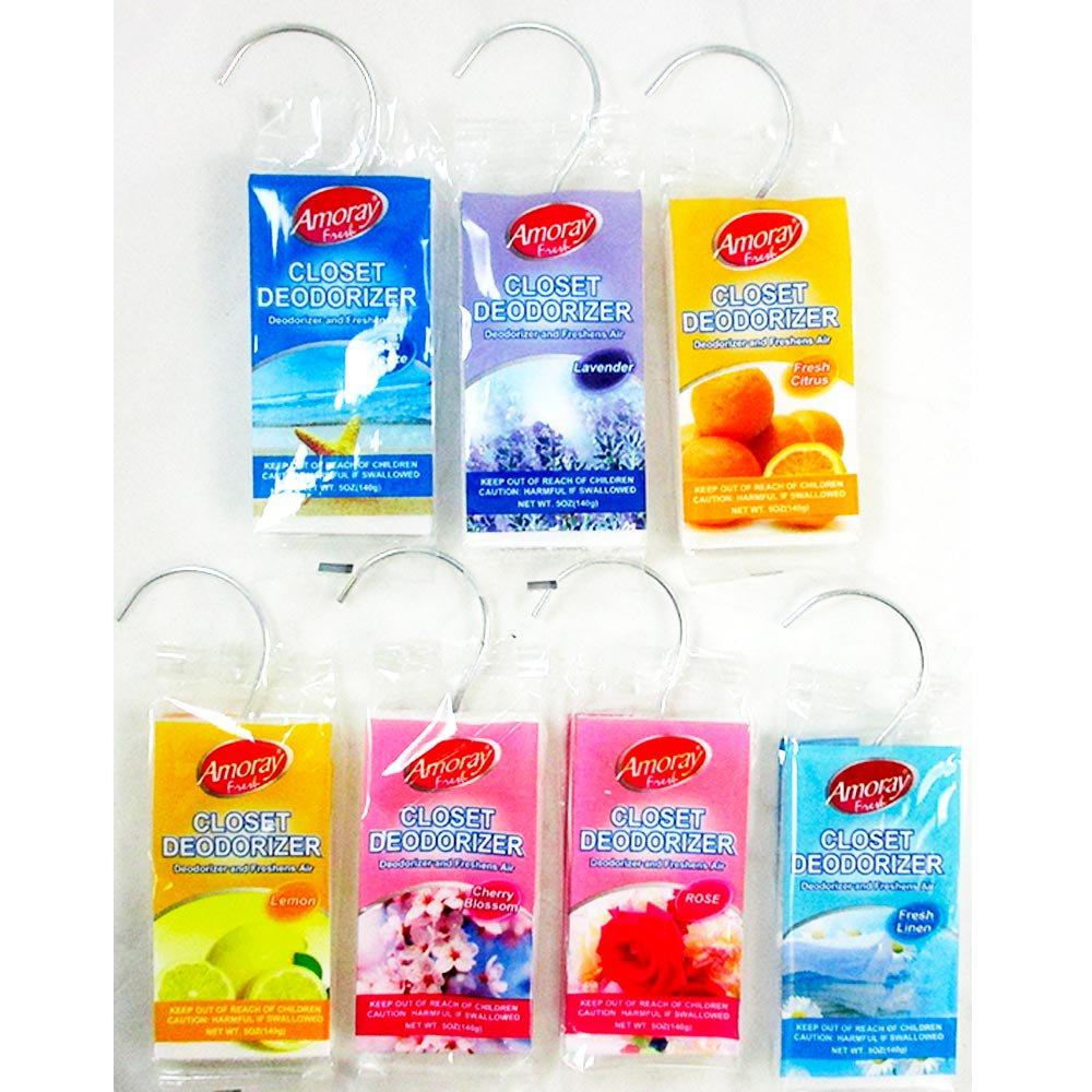 7 Pc Closet Deodorizer Air Freshener Scents Fragrance Odor Control  Neutralizer