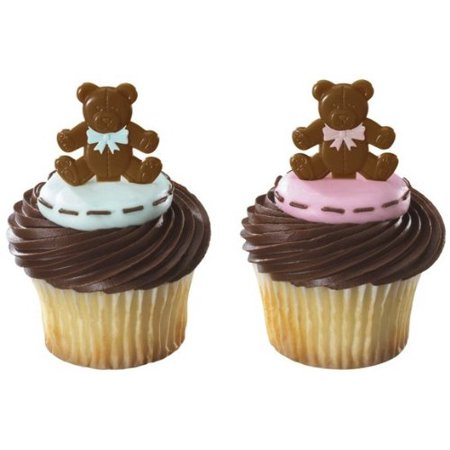 Brown Baby Bear Pink & Blue Bow Ties -24 Count - National Cake Supply](Bow Tie Cake)