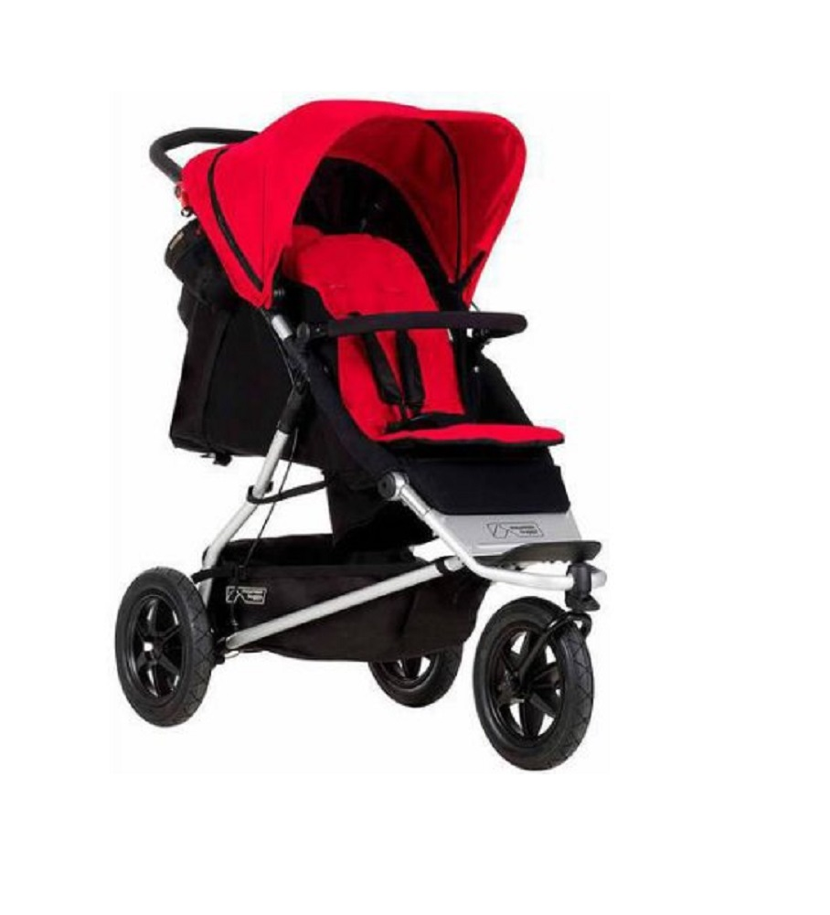 Mountain Buggy One Stroller with Second Seat & Cocoon, Berry