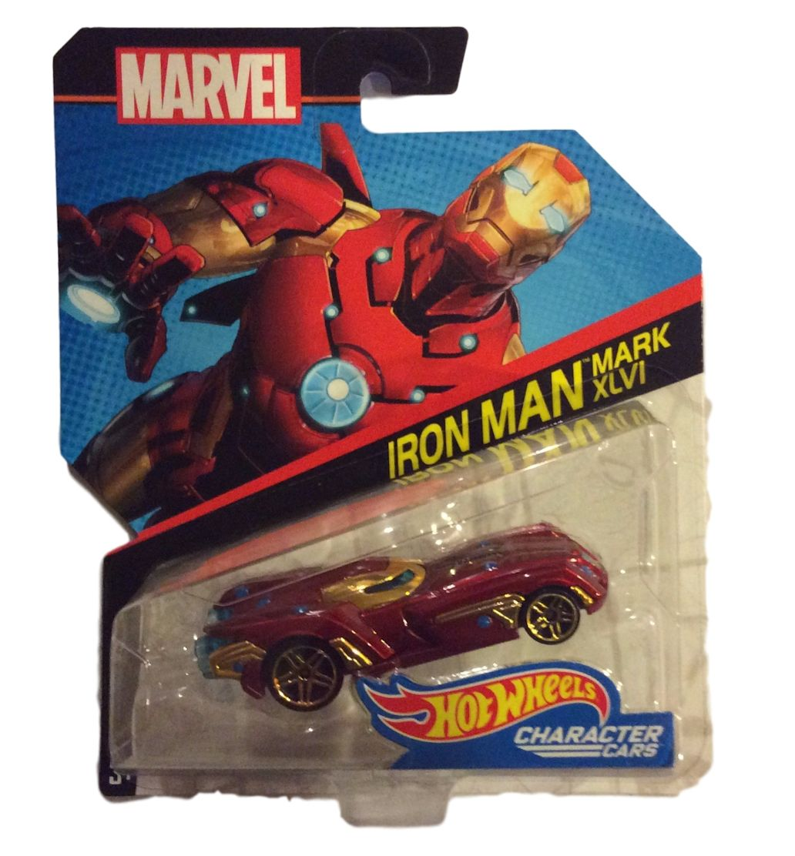 Hot Wheels 1:64 Marvel Character Cars Iron Man Mark XLVI DXV06 by Hot Wheels