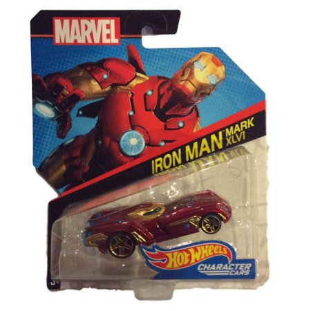 Hot Wheels 1:64 Marvel Character Cars Iron Man Mark XLVI