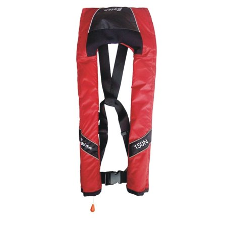 Manual Pfd - Lifesaving Pro® Automatic / Manual Child Youth Kid Size Inflatable Life Jacket PFD Life Vest Slim Inflate Survival Aid Lifesaving PFD Red Color