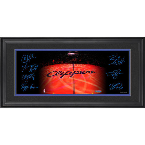 Mounted Memories Los Angeles Clippers Framed Mini Panoramic Photo with Facsimile Signatures