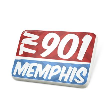 Porcelein Pin 901 Memphis, TN red/blue Lapel Badge – NEONBLOND - Costumes Memphis Tn