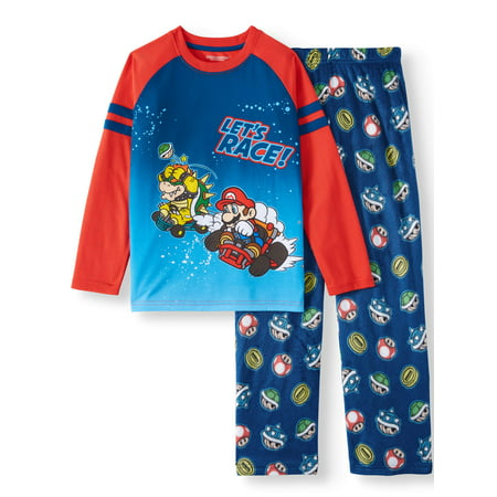 Nintendo Super Mario 2-Piece Long Sleeve Long Pant Pajama Set (Little Boy & Big Boy)