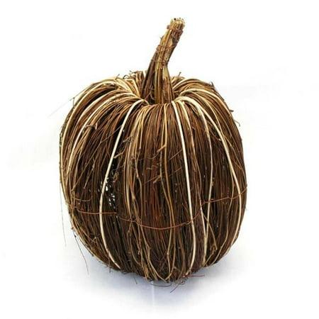 Brown & Orange Twig Pumpkin - -