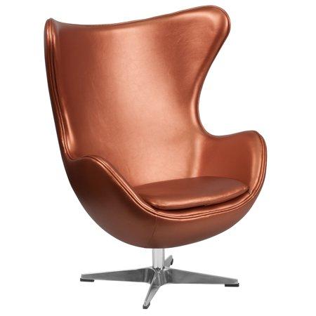 Orange Mini Mitt Chair - Flash Furniture Leather Egg Chair with Tilt