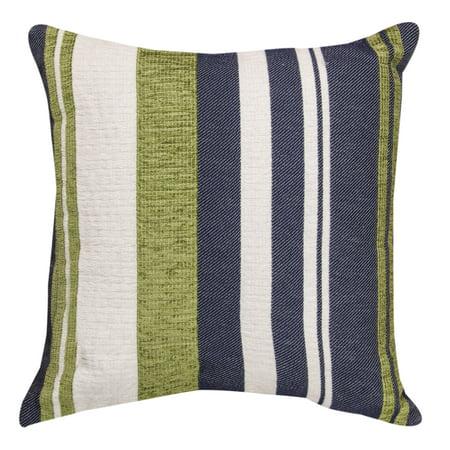 MWW, Inc. Green/ Blue/ White Striped Throw Pillow - Walmart.com