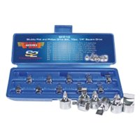 "VIM Tools SFP10 10 Piece 1/4"" Square Drive Stubby Flat and Phillips Drive Set"