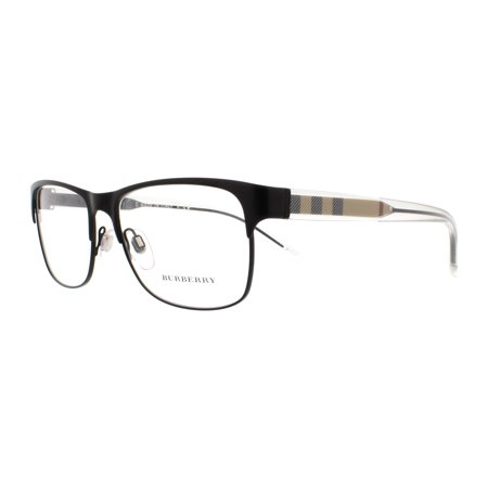 BURBERRY Eyeglasses BE 1289 1007 Matte Black (Burberry Rimless Eyeglasses)
