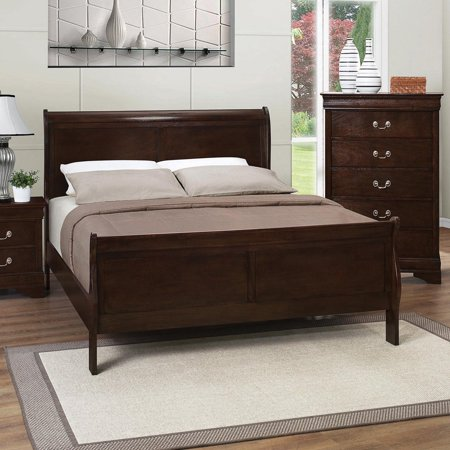 Coaster Furniture Louis Philippe Wood Sleigh Bed ()