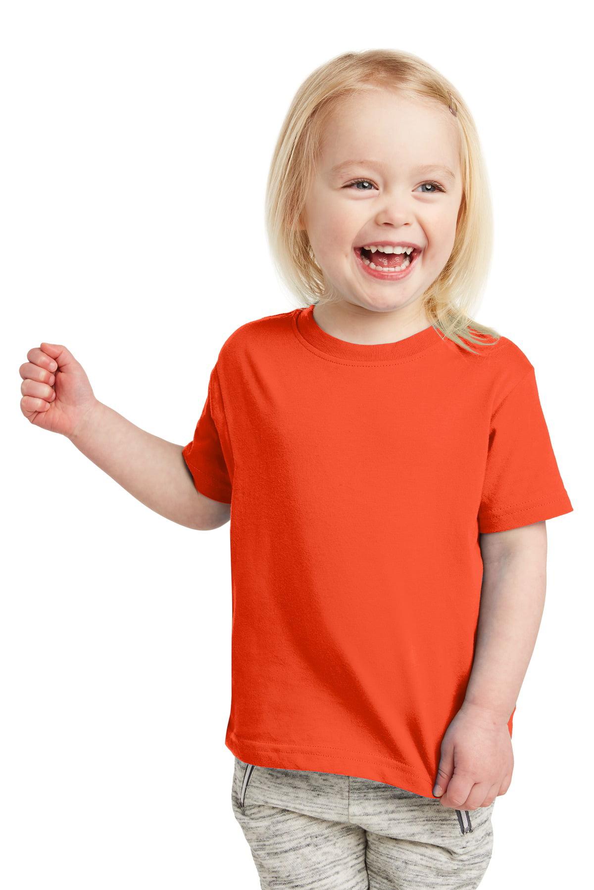 Rabbit Skins Toddler Fine Jersey Ribbed Collar T-Shirt