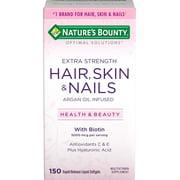 Nature's Bounty Optimal Solutions Hair Skin & Nails Biotin Extra Strength Softgels, 150 Ct