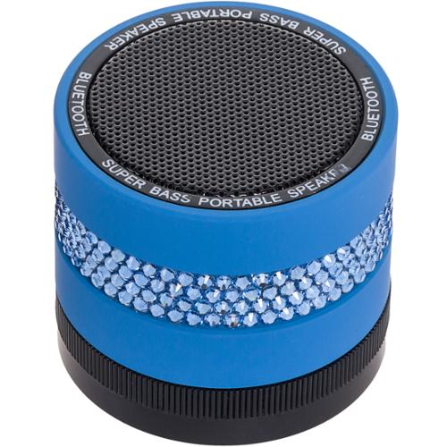 NEW Crystallized Portable Wireless Bluetooth Super Bass Stereo Speaker (Blue)