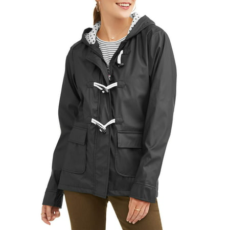 Climate Concepts Women's Toggle Clossure Rain Coat