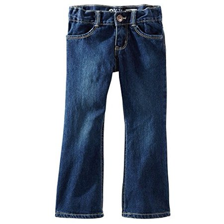 OshKosh B'gosh Baby Girls' Dark Wash Elastic Back Waist Denim Jeans - 9 - Toddler Robin Jeans