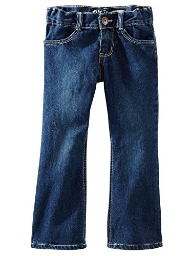 OshKosh B'gosh Baby Girls' Dark Wash Elastic Back Waist Denim Jeans - 9 Months