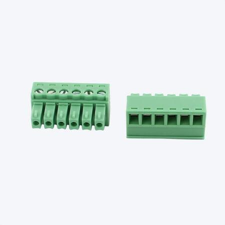 5Pcs 300V 10A 2EDGK 3 81mm Pitch 6-Pin PCB Screw Terminal Block Connector