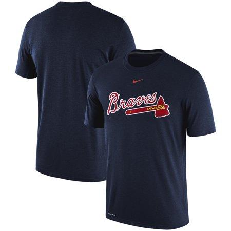 Atlanta Braves Nike Legend Primary Logo Performance T-Shirt - Navy (Nike Legend)