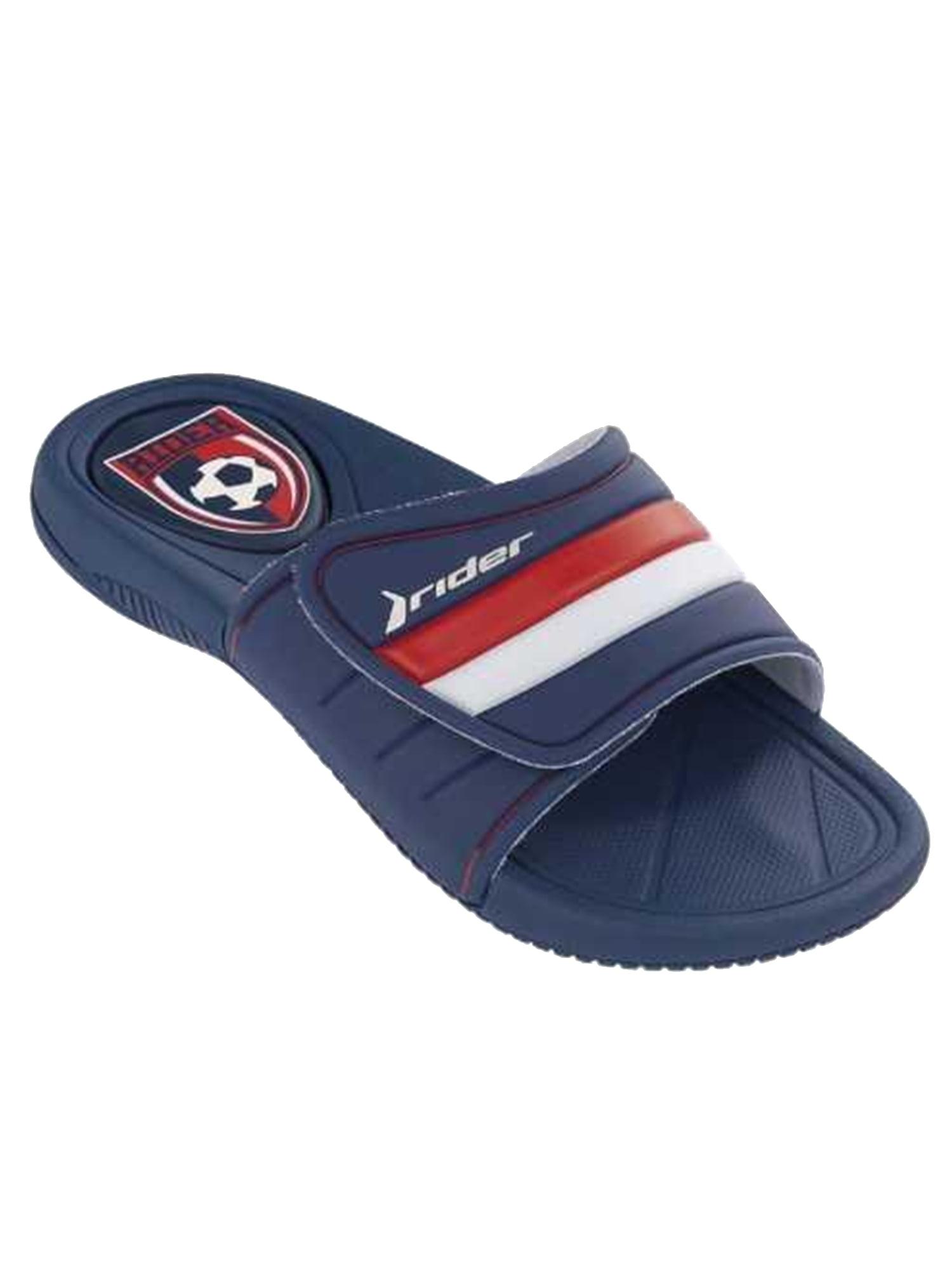 Rider Men's Speed World Blue / White Slide Sandal (Blue;Size 10)