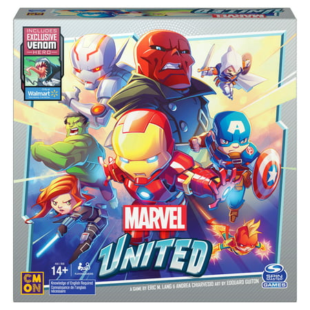 Marvel United, Super Hero Cooperative Strategy Card Game, for Adults, Families and Kids Ages 14 and up, Walmart Exclusive with Venom Hero