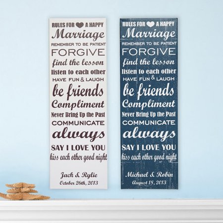 Personalized Rules To A Happy Marriage 9