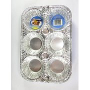 6 Disposable Aluminum Muffin Pans By DURABLE FOIL