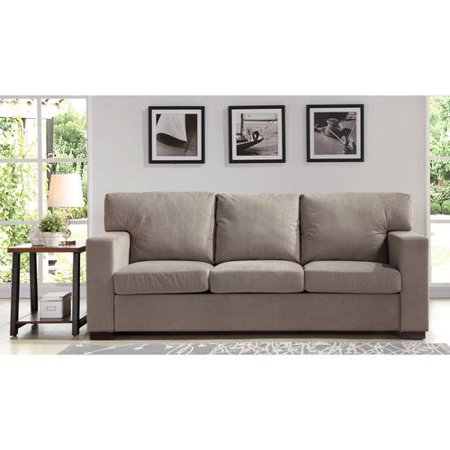 better homes and gardens oxford square sofa taupe. Black Bedroom Furniture Sets. Home Design Ideas