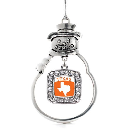 Texas Outline Classic Snowman Holiday Ornament](Texas Snowman)